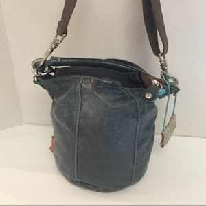 GABS leather floral embellished bucket cross body for sale